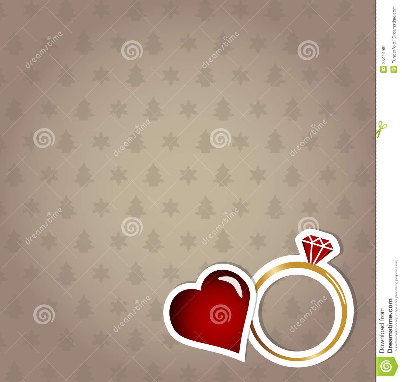 Engagement Card Christmas Concept Royalty Free Stock