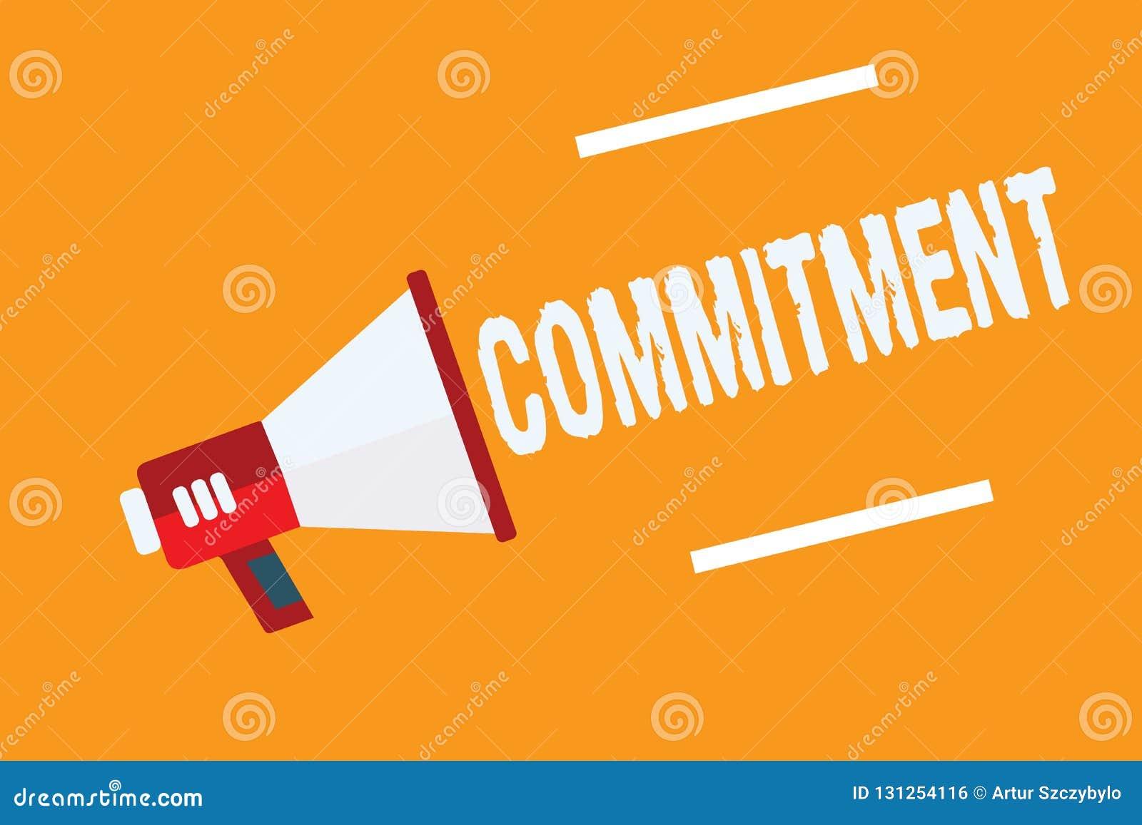 Engagement conceptuel d apparence d écriture de main Qualité des textes de photo d affaires d être consacré causer l engagement d