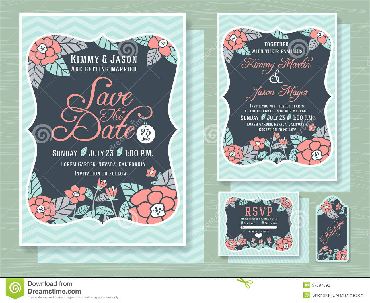 Engagement Invitation Template With Topical Flower Photo – Engagement Card Template