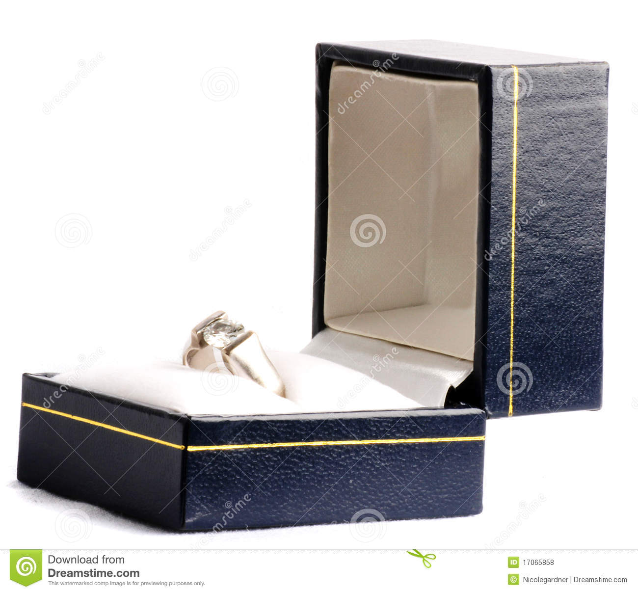 Engagement Ring In A Box Royalty Free Stock Photos