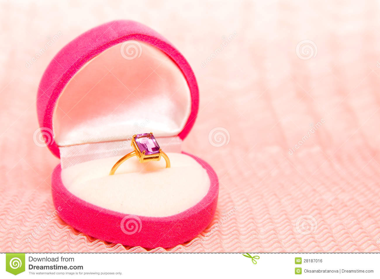 Engagement Ring in Box stock photo. Image of jewelry - 28187016