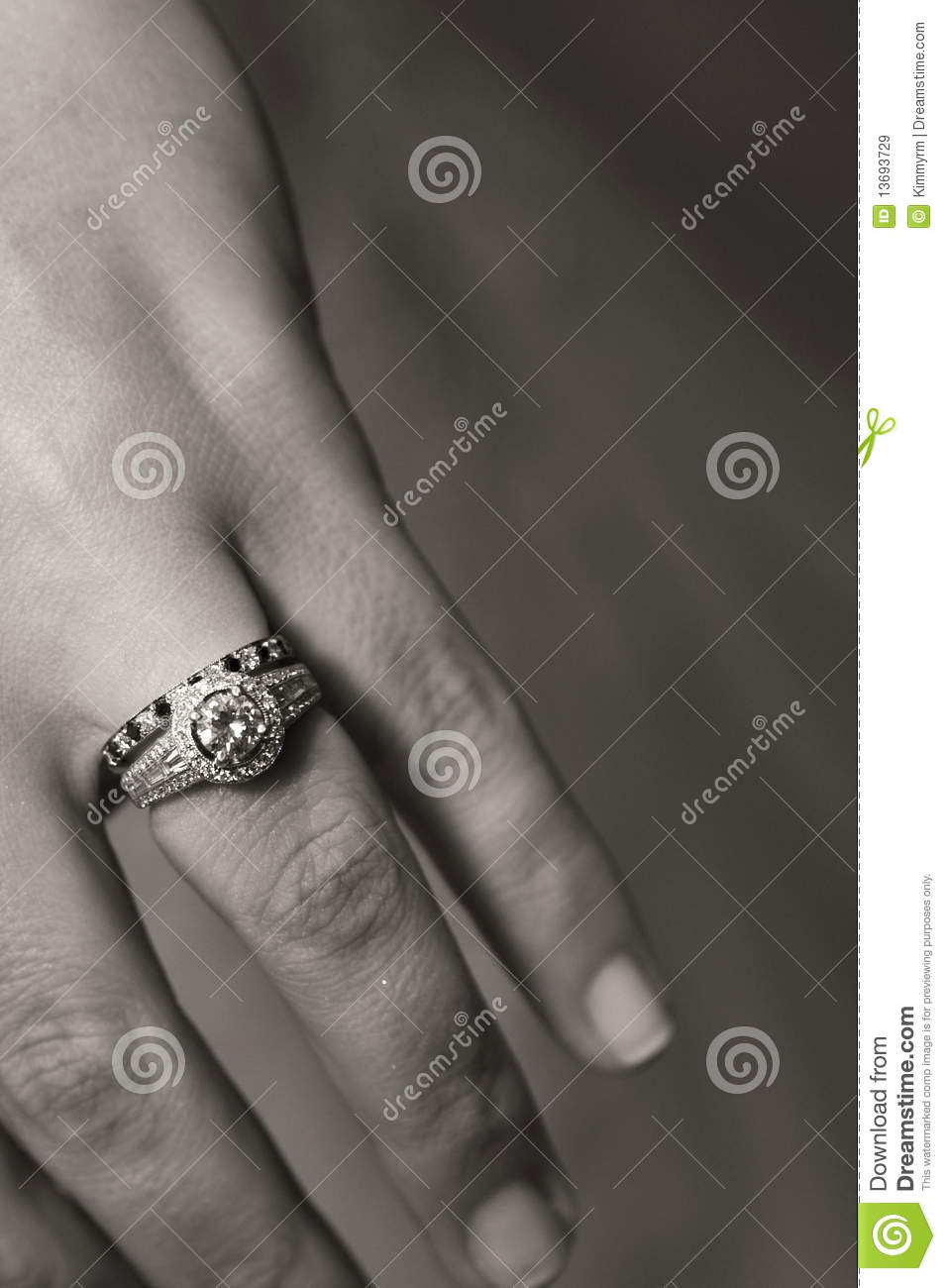 Engagement Ring Finger On A Woman's Hand Royalty Free ...