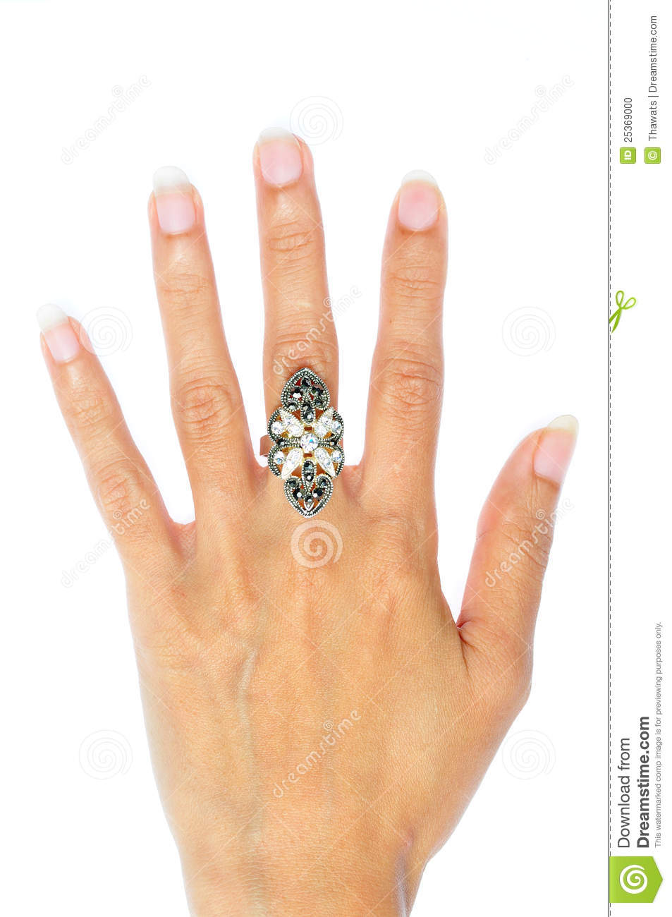 Engagement Ring In Hand Stock Photo