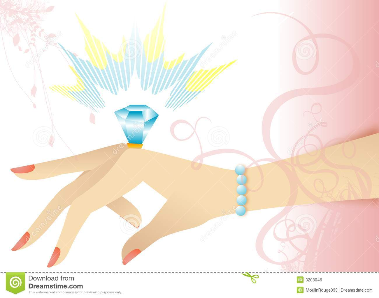 Engagement Ring On Hand Royalty Free Stock Image - Image