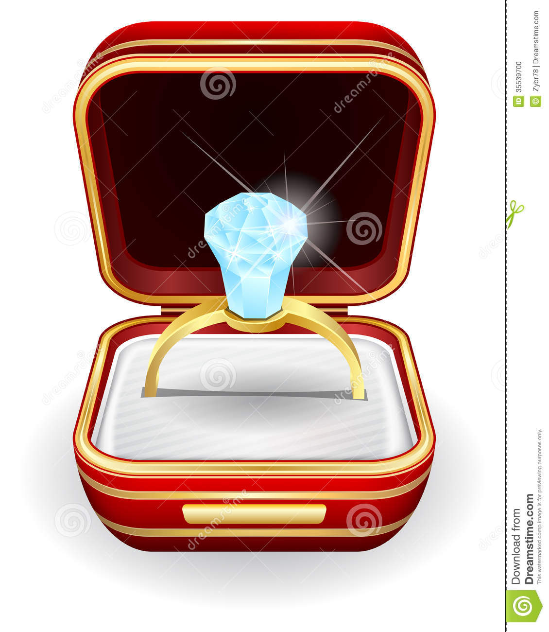 Engagement Rings In Gift Box Stock Photo Image 35539700