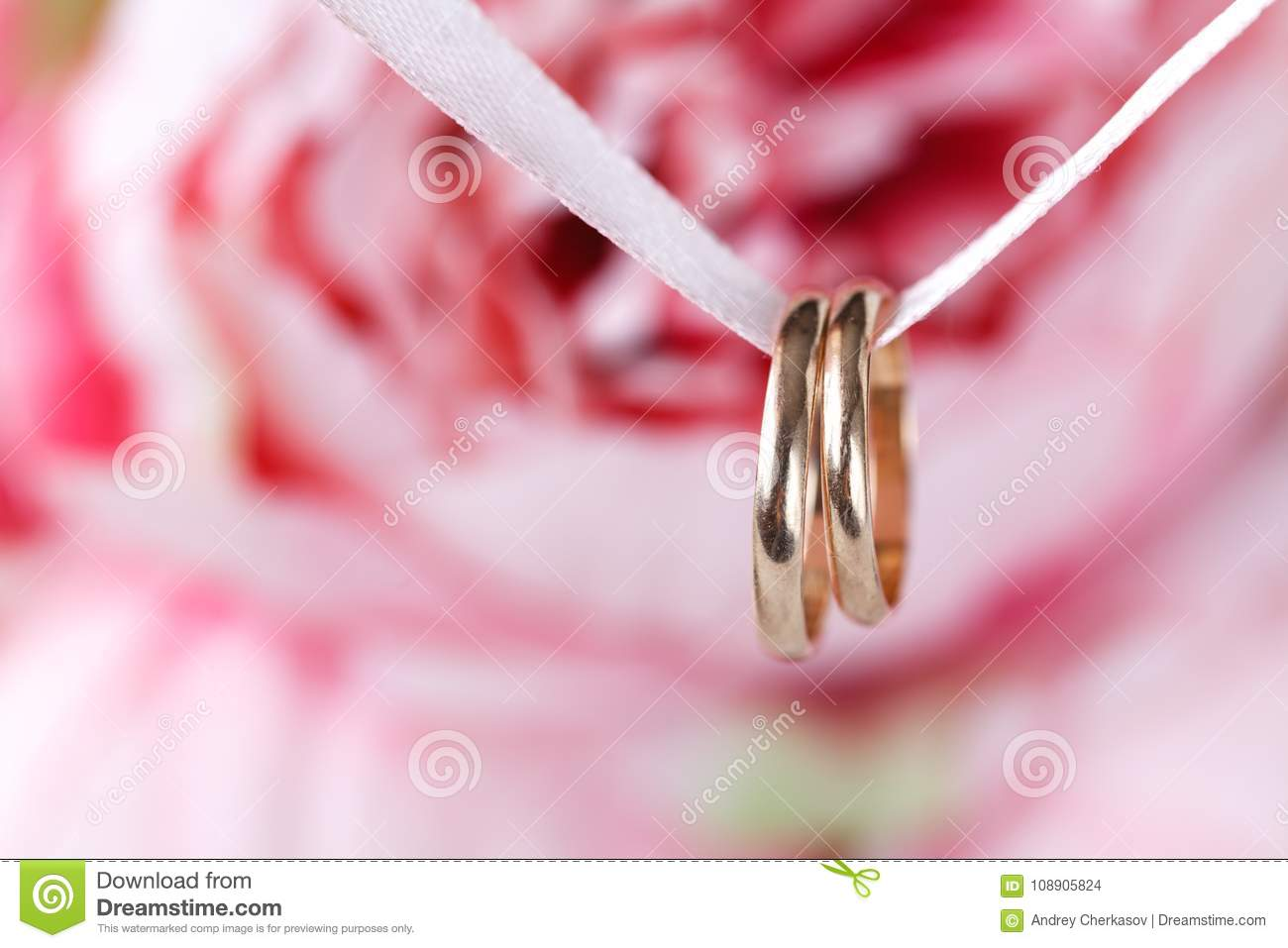 Engagement Wedding Rings, Close Up View Stock Photo - Image of gold ...