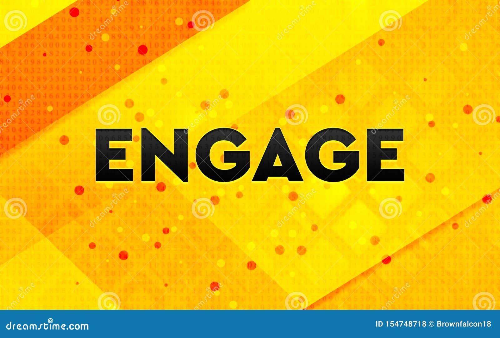 Engagez le fond jaune de bannière numérique abstraite