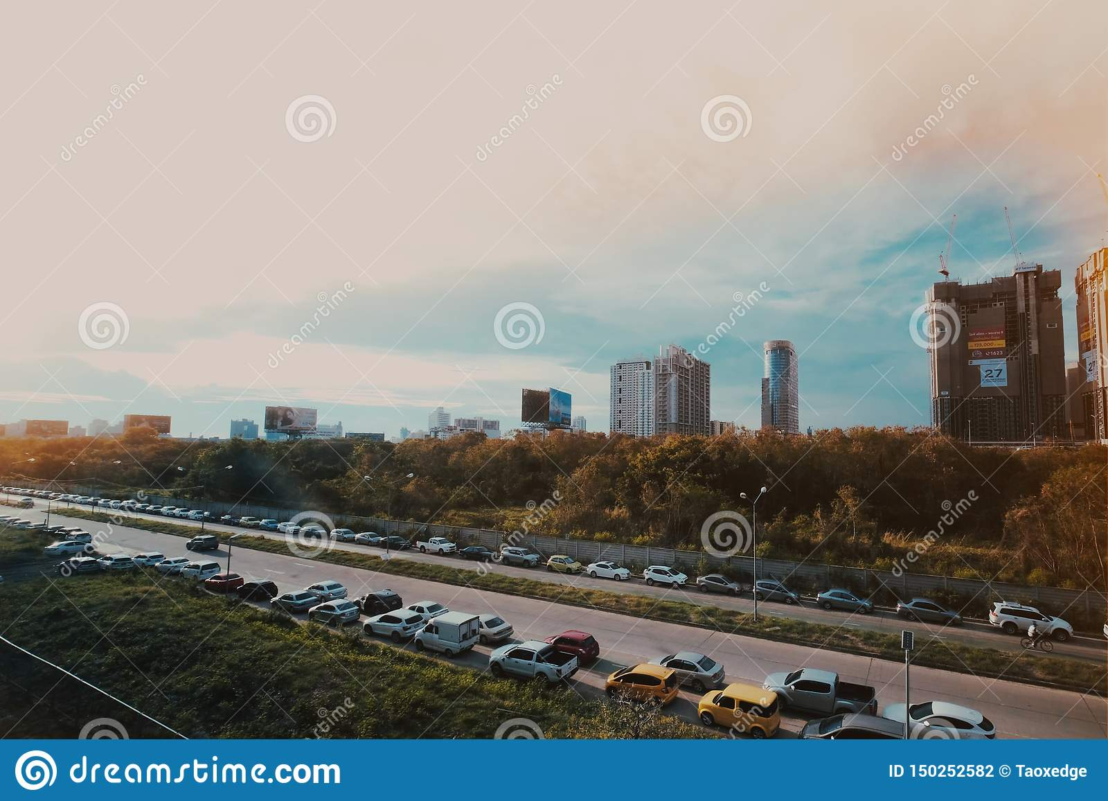 Engarrafamento na cidade de Banguecoque