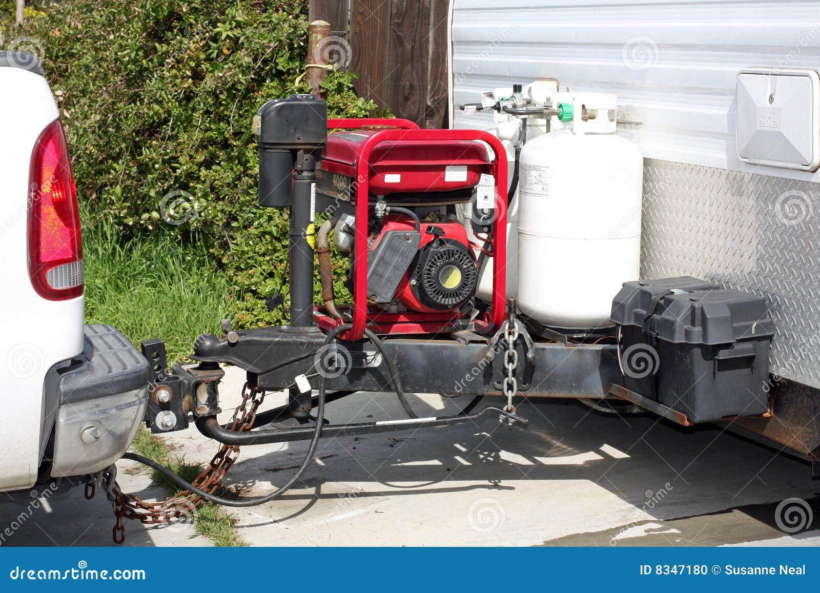 Engate e gerador de reboque