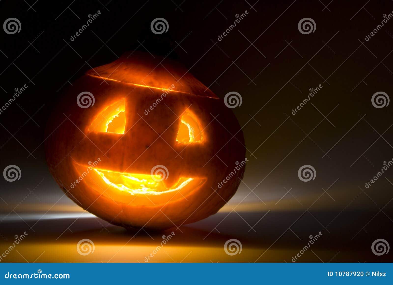 Enge glanzende pompoen Halloween