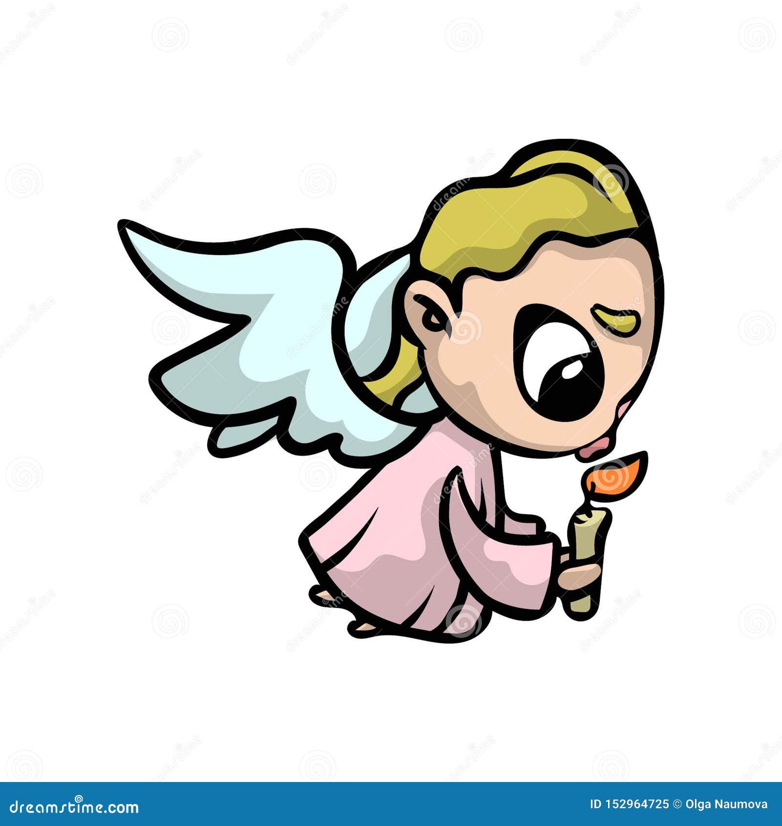 engel des blonden haares des gebets mit kerze und rosa