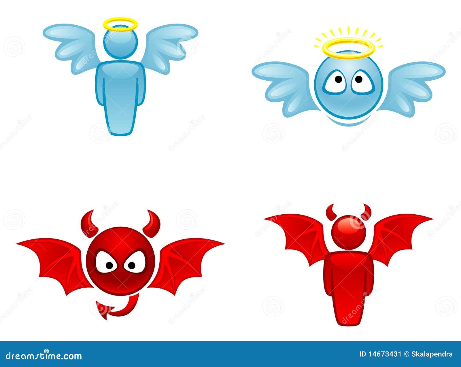 Engel En Duivel Vector Illustratie Illustratie Bestaande