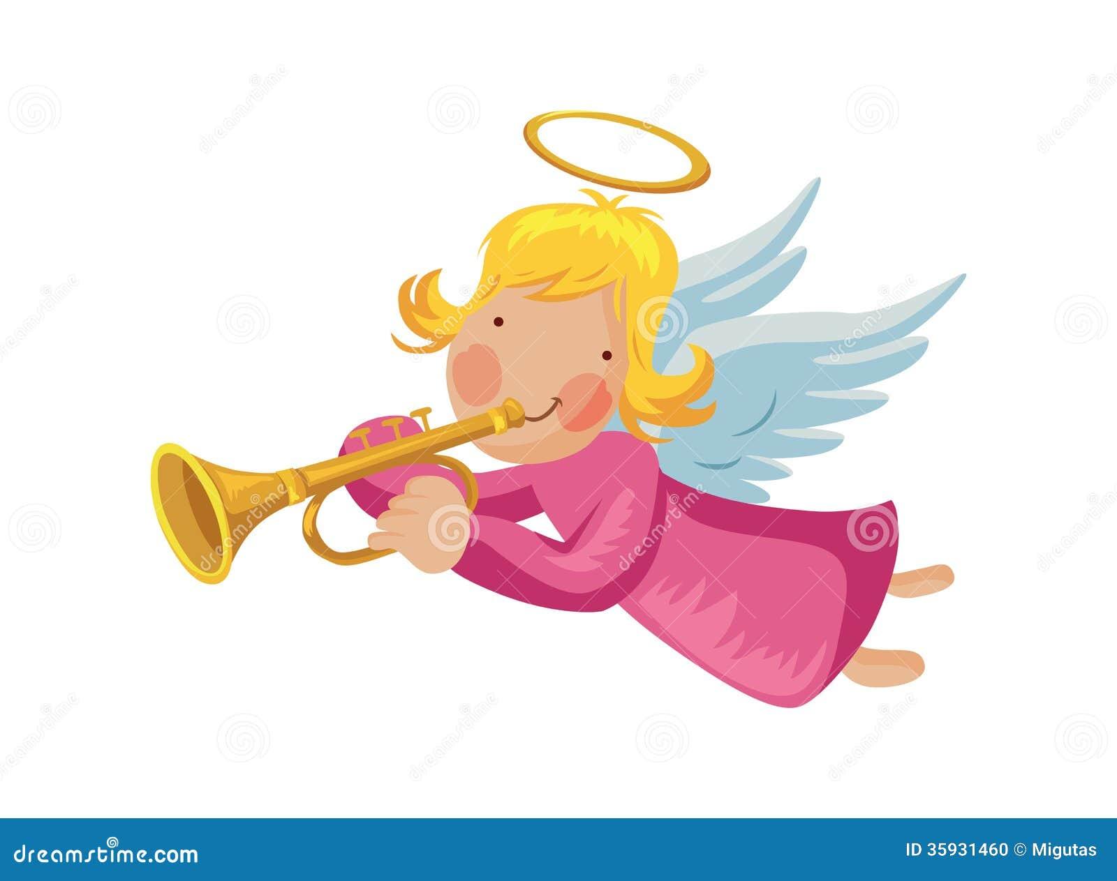 engel mit trompete vektor abbildung bild von christentum. Black Bedroom Furniture Sets. Home Design Ideas