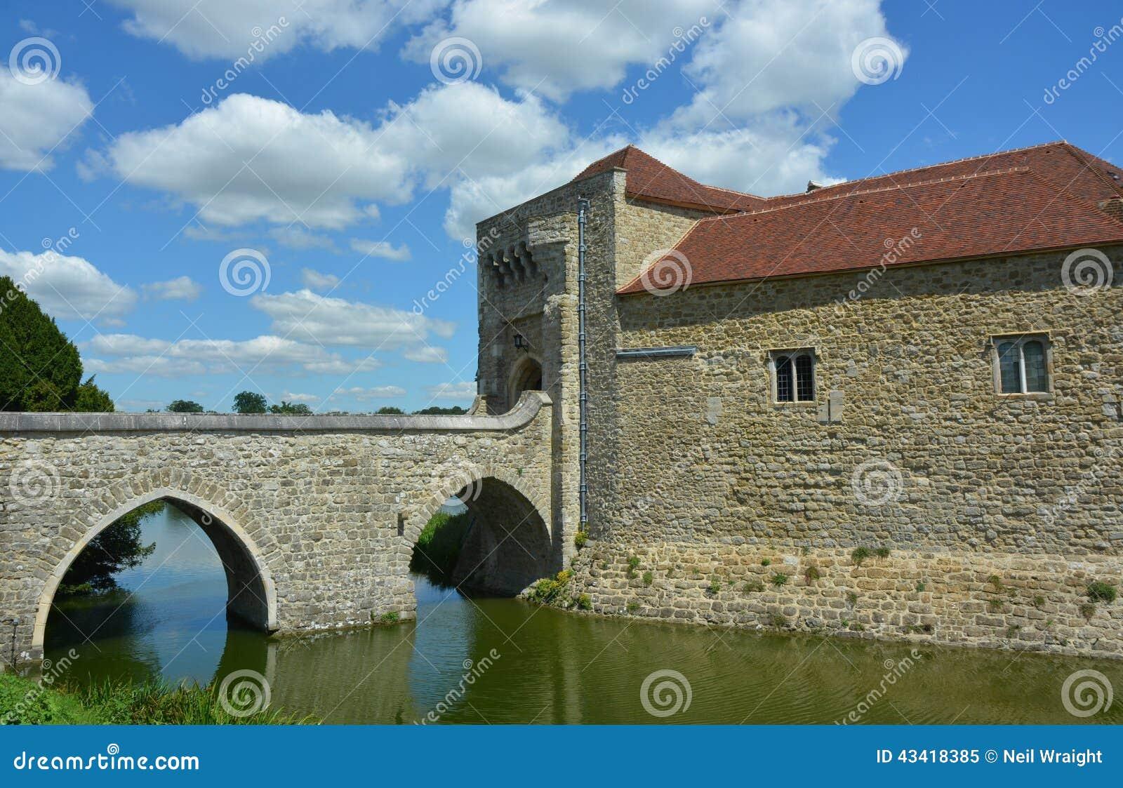 Engels Middeleeuws Kasteel met Gracht