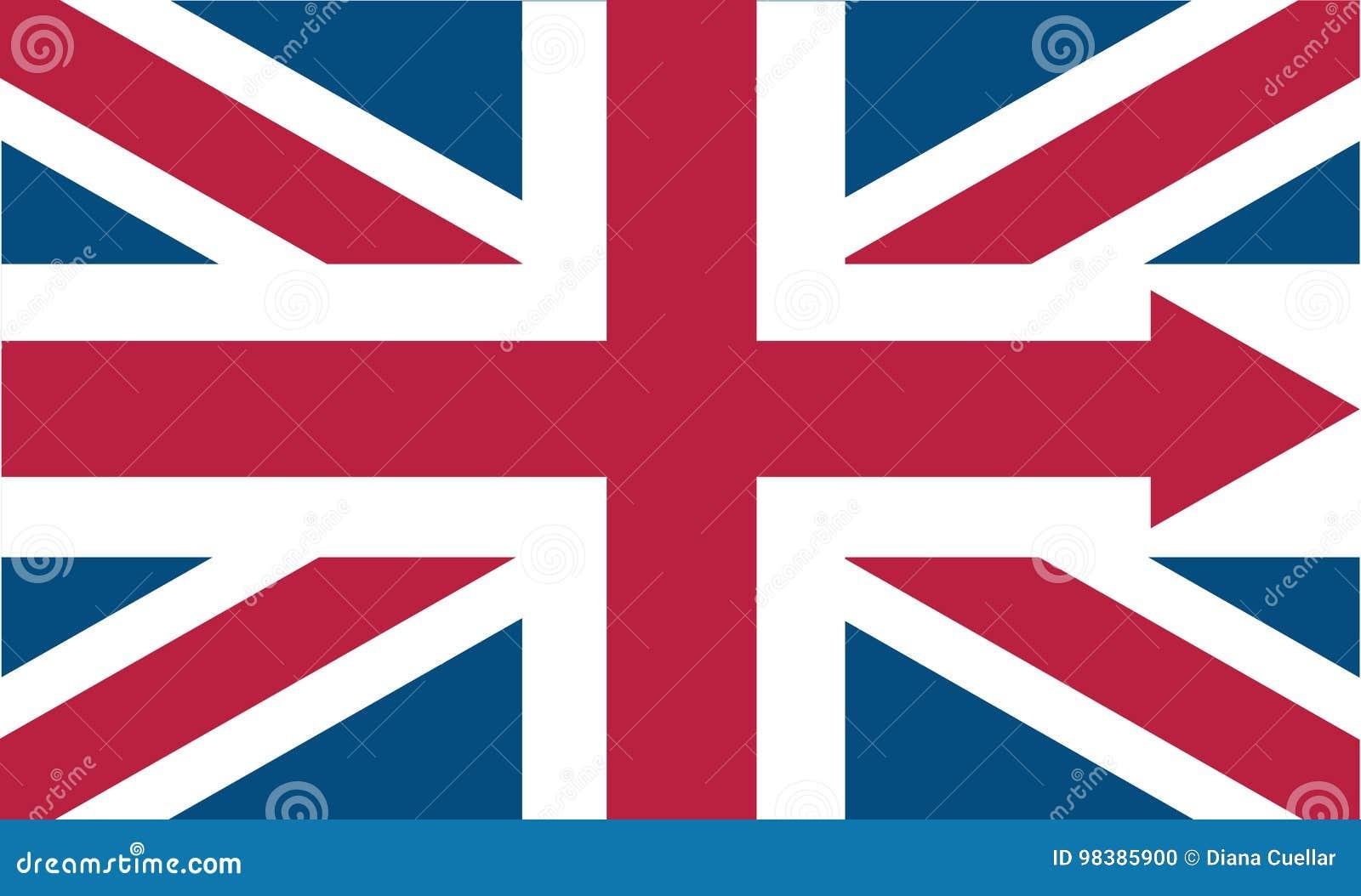 Engels vlagpictogram met pijl vector illustratie for Douane engels