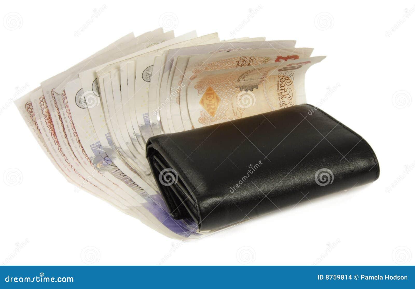 Engelse munt en portefeuille