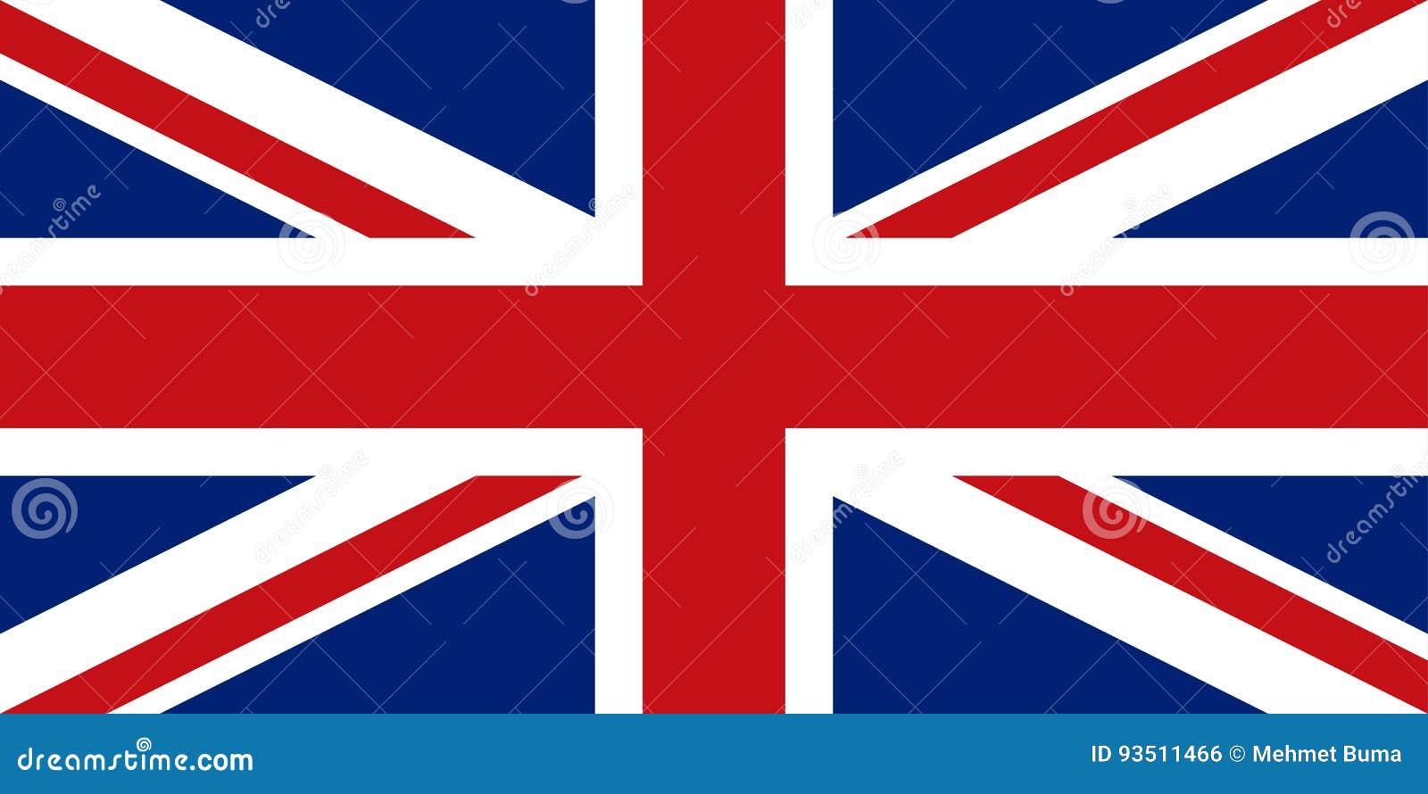 Engelse vlag, vlakke lay-out, vectorillustratie