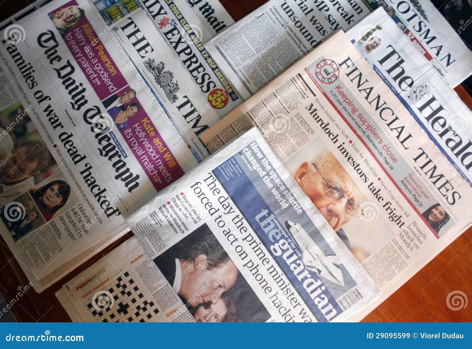 Engelska tidningar