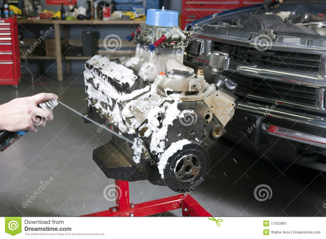 Engine Cleaner Stock Image Image Of Mechanical