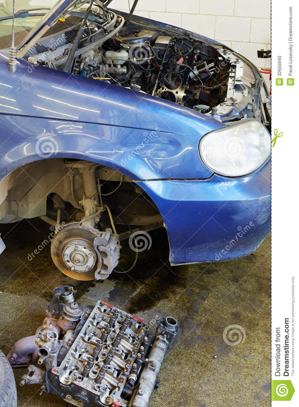 Car under repair editorial image 79994470 for Motor machine shop near me