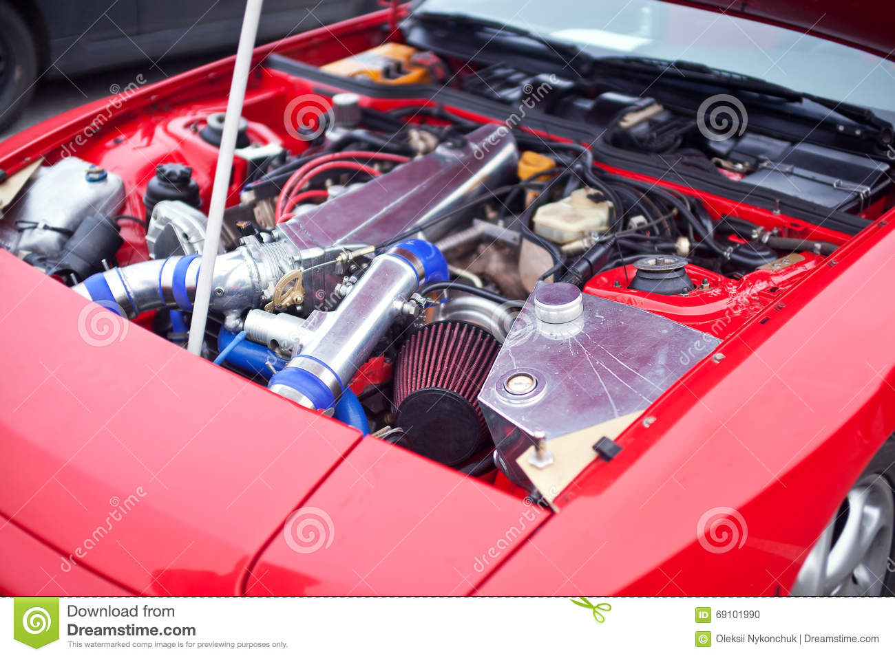 Engine of the drift car