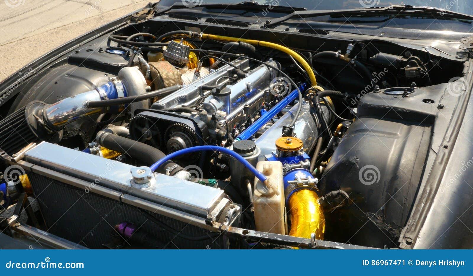 Engine Of The Drift Car Stock Photo Image
