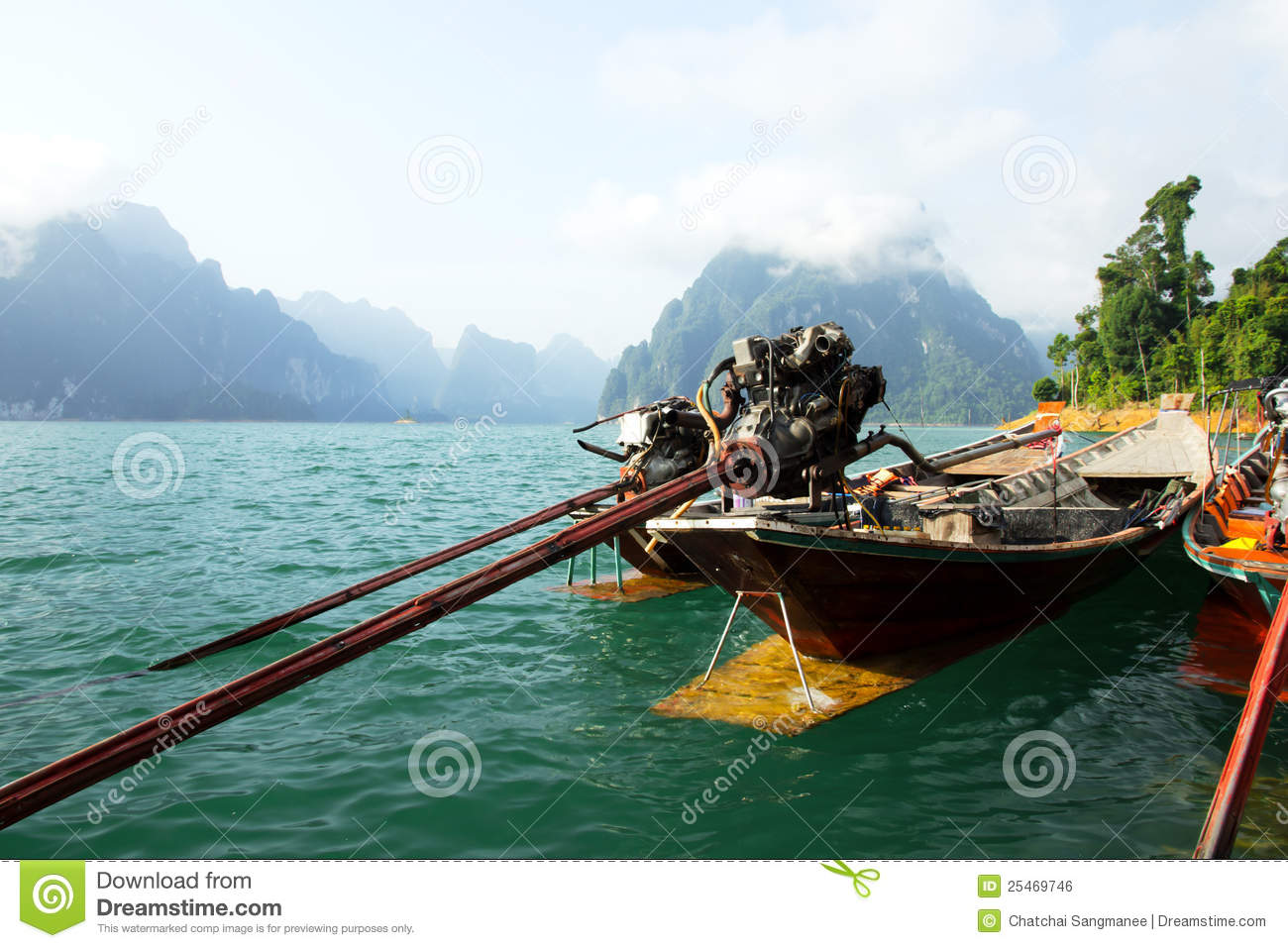 Engine Of Longtail Boat Royalty Free Stock Image - Image ...