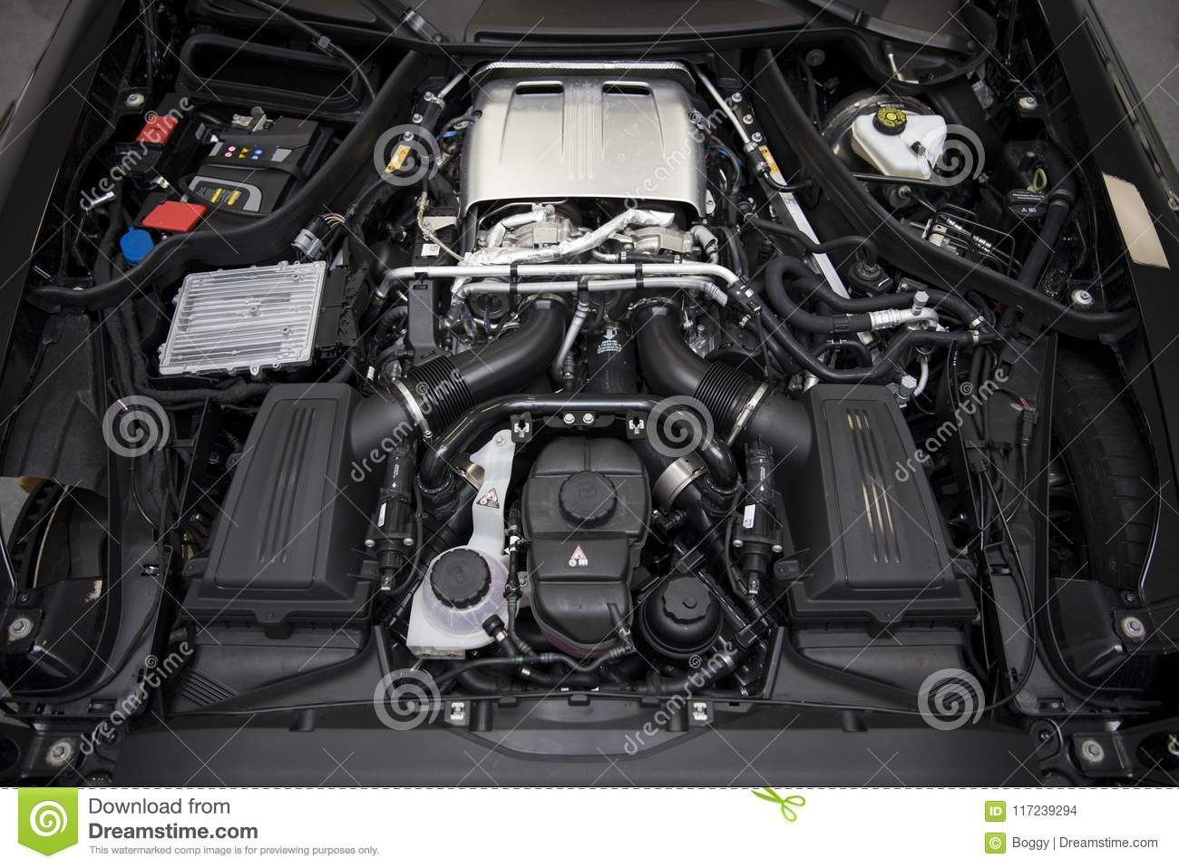 Engine Of 2017 Mercedes Amg Gt C Coupe Editorial Stock Image Image Of Machine Concept 117239294