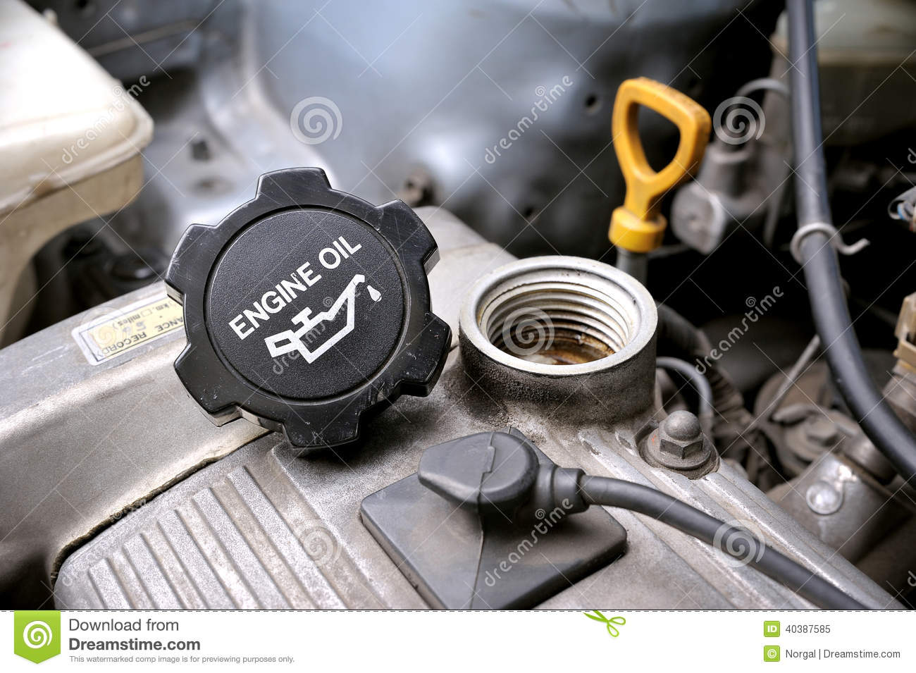 Engine oil cap stock image image of fuel automobile for Motor oil for older cars