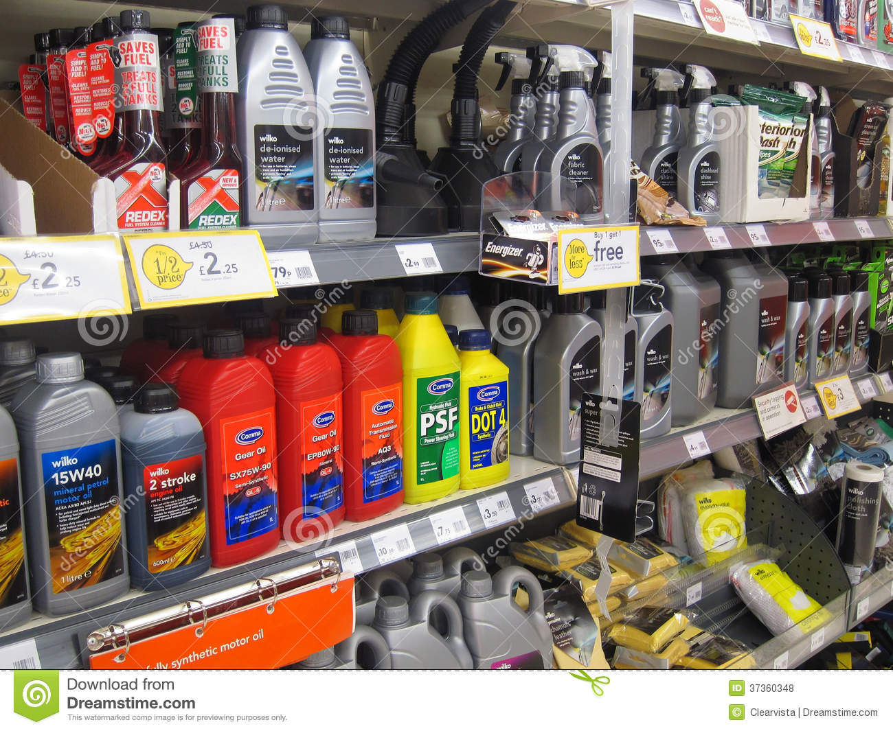 Engine oil for sale in a store editorial stock photo for Sales on motor oil