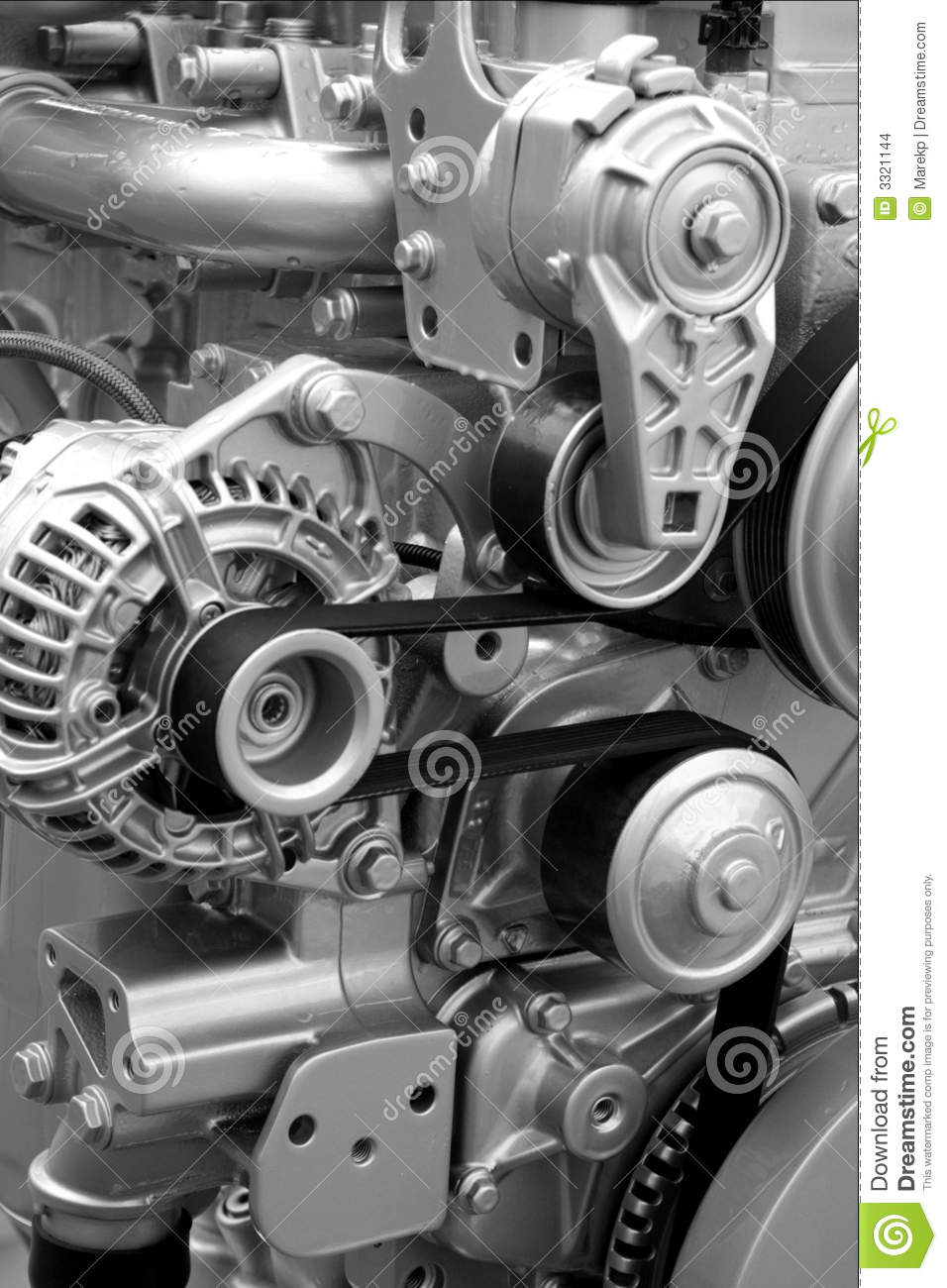 Locomotive Spare Parts : Engine parts and components stock photo image