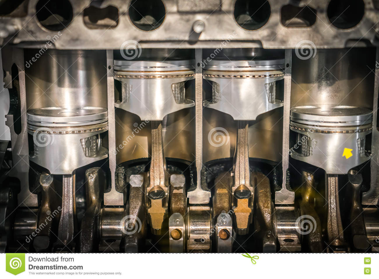 Engine piston cross section stock photo image 70492670 for Sell em all motors