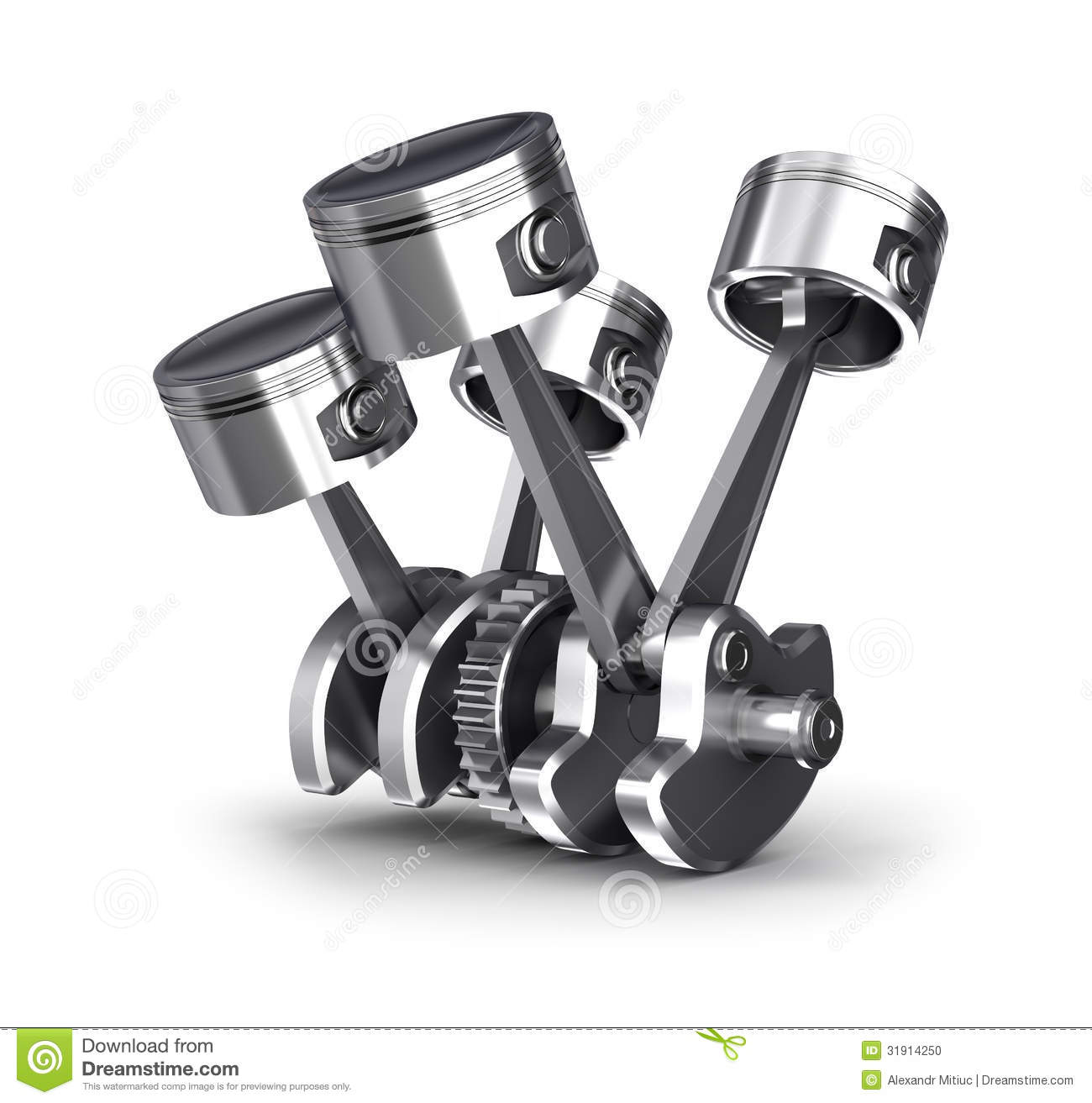 engine pistons and cog stock illustration  illustration of