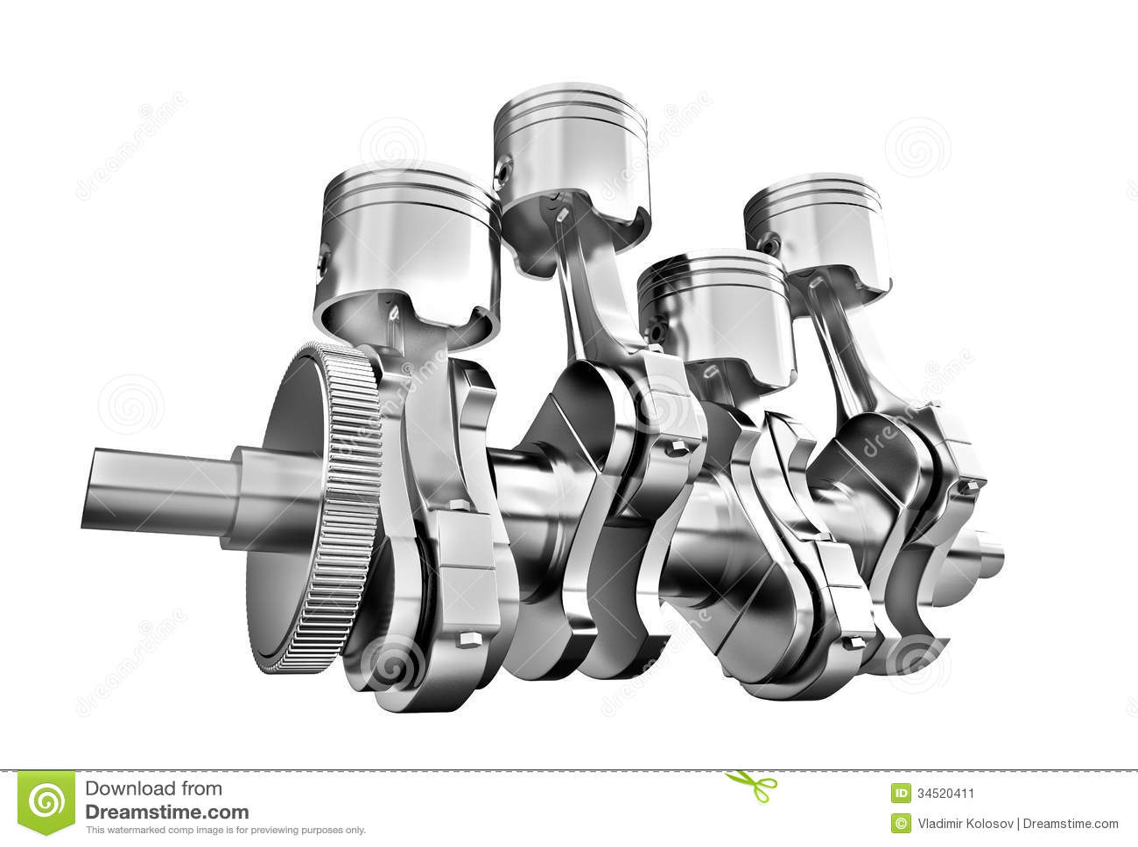V8 Engine Clipart Engine pistons and cog
