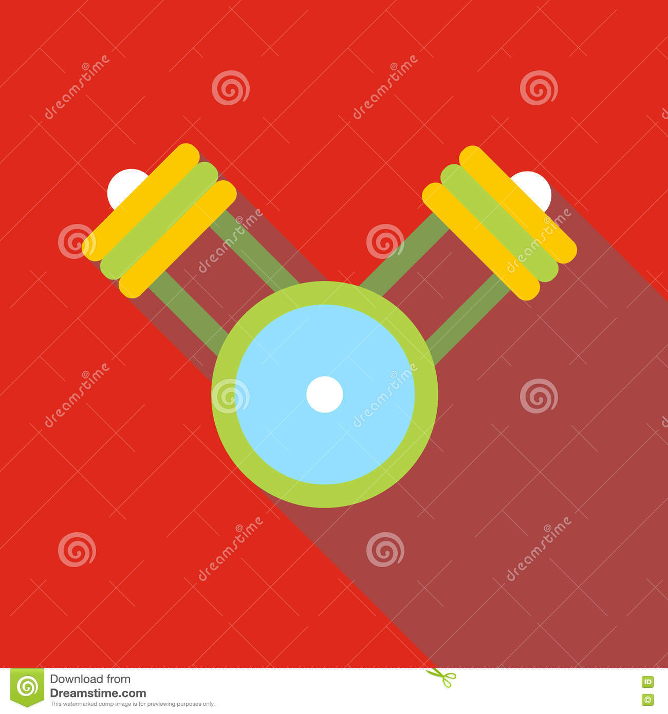 Engine Pistons On A Crankshaft Icon Flat Style Stock Vector Diagram Schedule