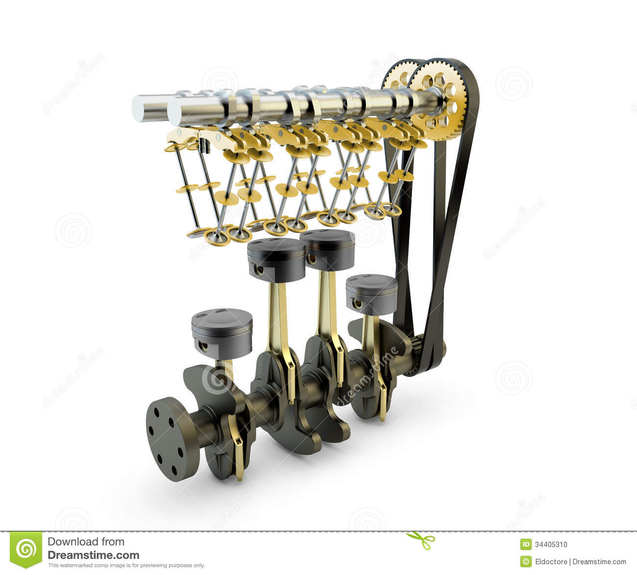 engine with pistons valves crankshaft and camshaft stock photo image of camshaft part 34405310. Black Bedroom Furniture Sets. Home Design Ideas