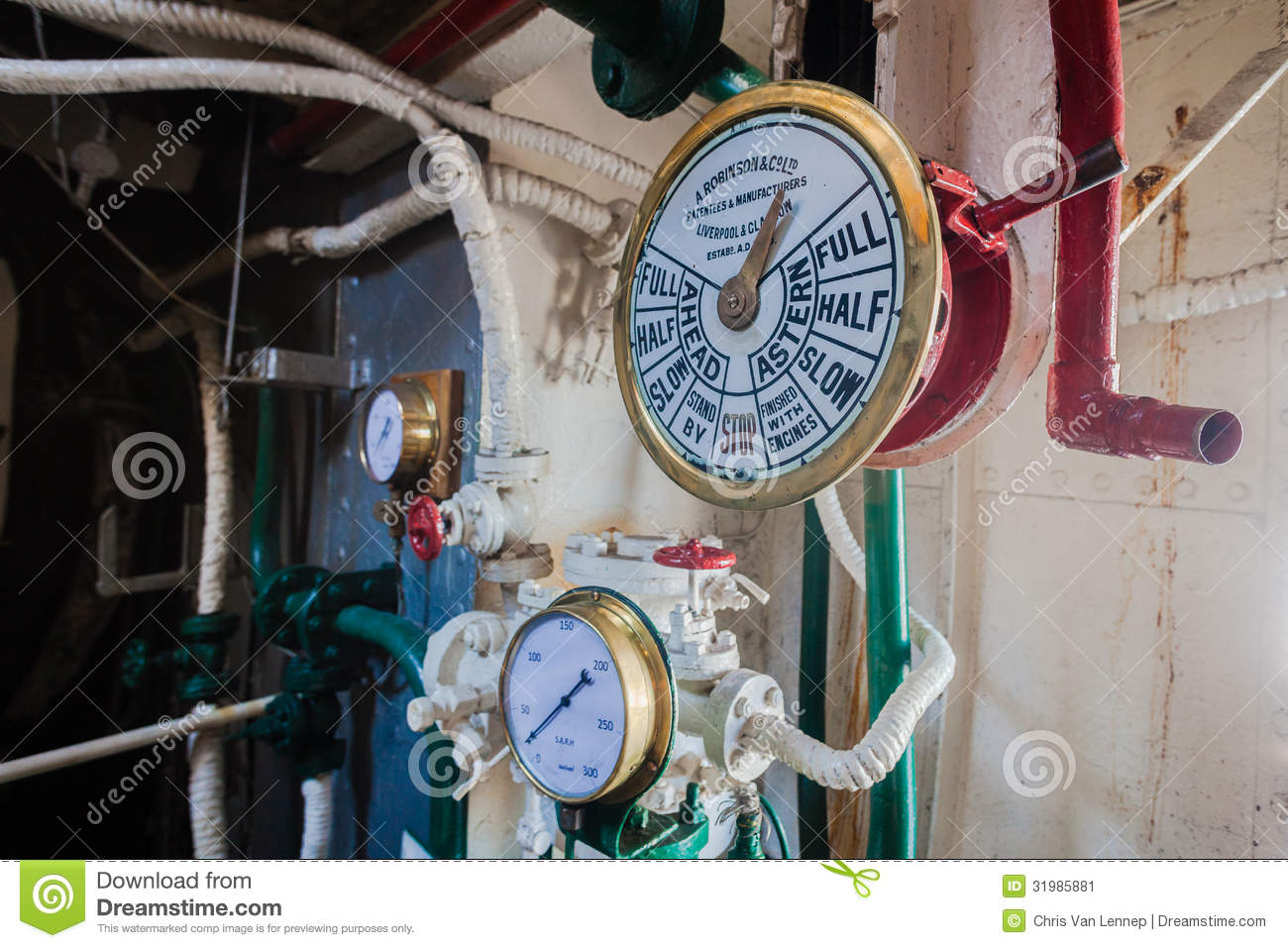 Engine Room Operation Gauge Commands Editorial Photo - Image