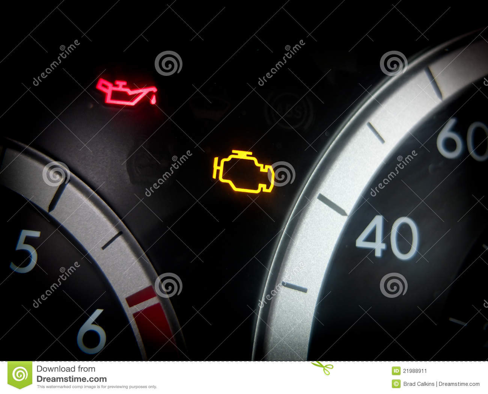 Engine dashboard light