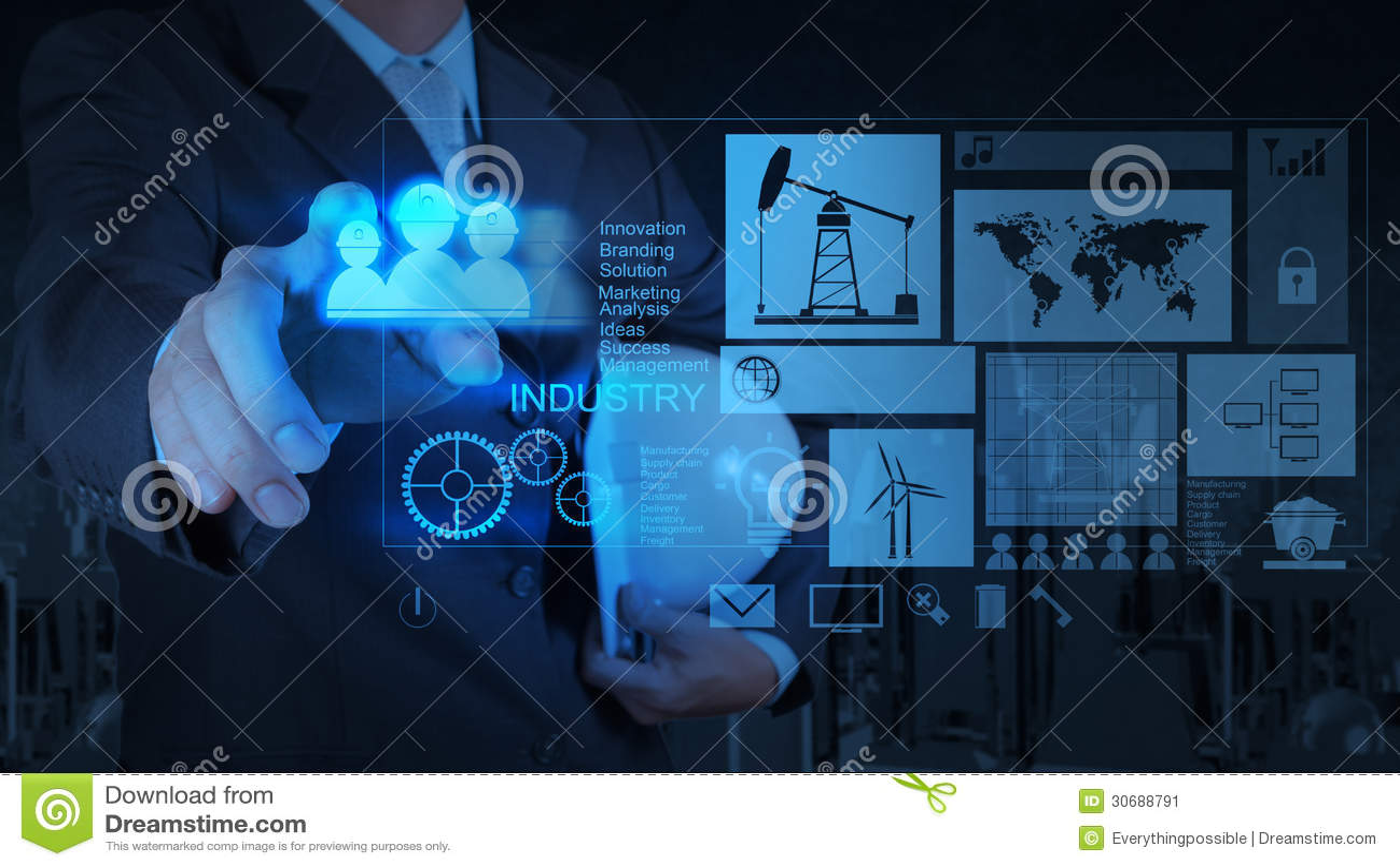 engineer businessman working on modern technology as