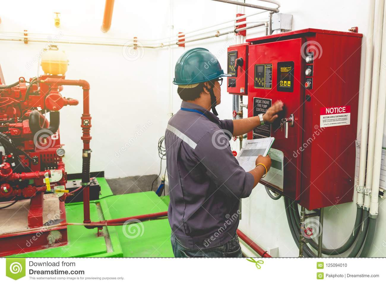 download engineer checking industrial generator fire control system editorial image image of diesel factory