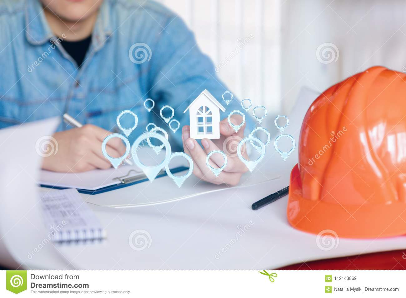 56c8ac18263d4 Engineer Designs The Location . Stock Image - Image of location ...