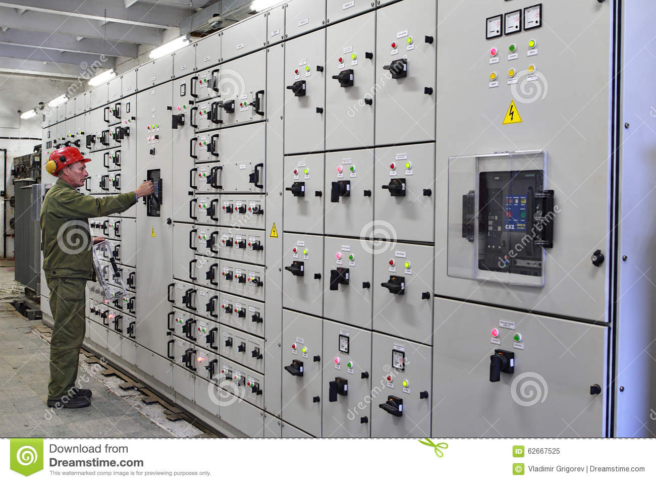 Electrical Engineer Equipment : Engineer electrician switches switchgear equipment