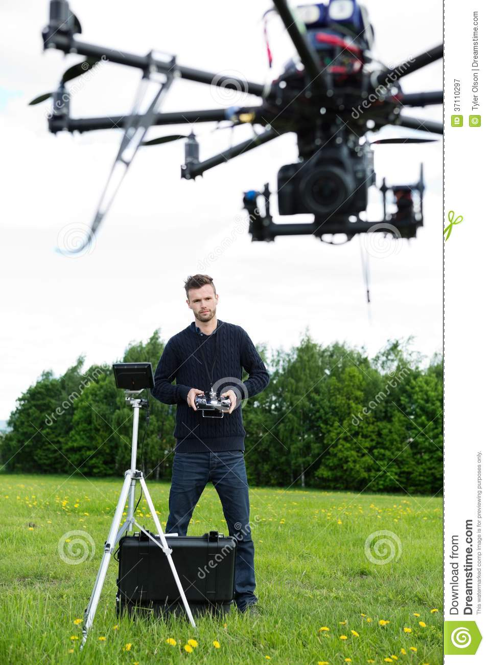Engineer Flying Photography Drone
