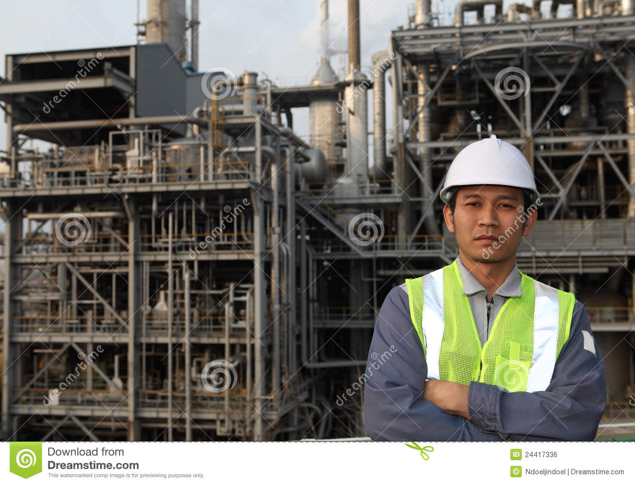 Engineer Oil Refinery Royalty Free Stock Image - Image: 24417336