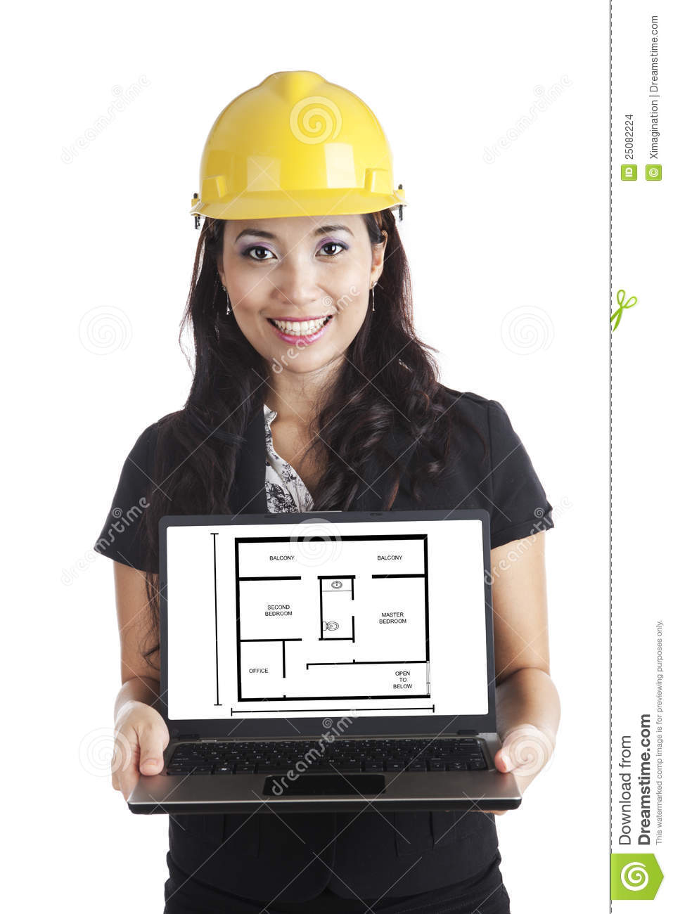 Engineer Presenting House Design Stock Images Image - Home design engineer
