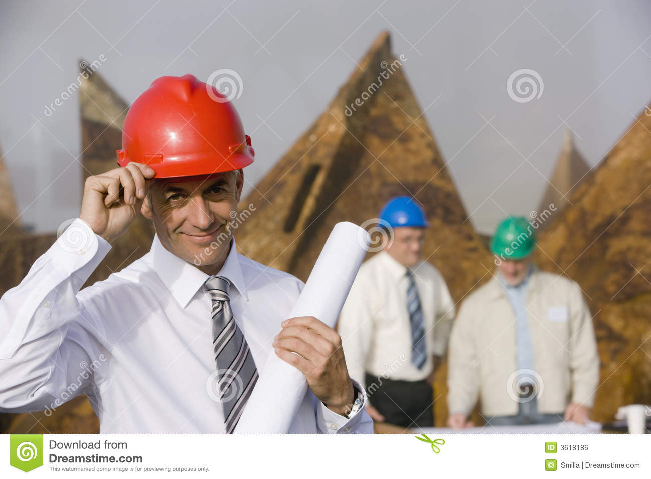Engineer tipping his hardhat