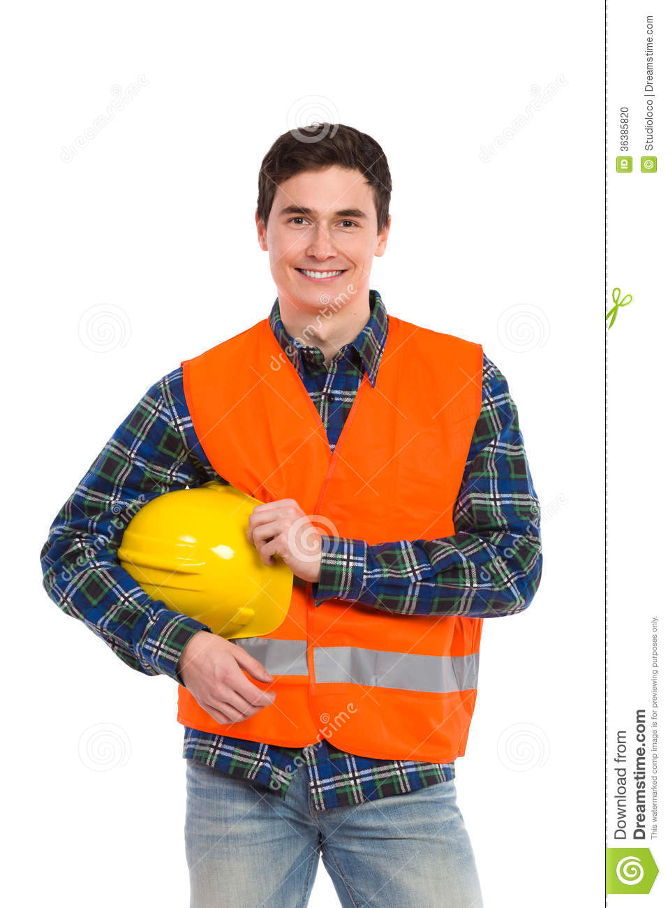 Engineer Wearing Reflective Clothing Stock Photo Image