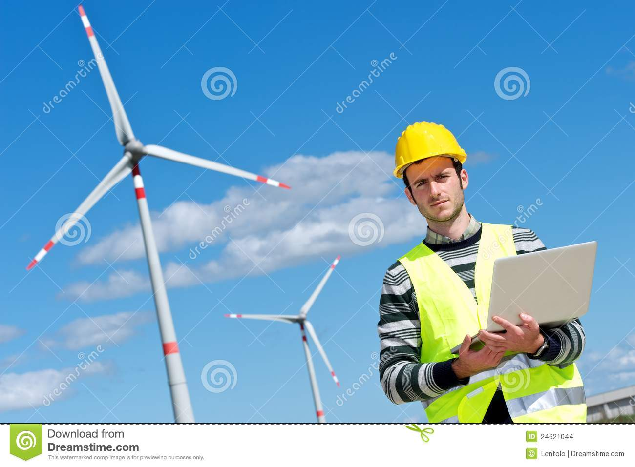 Engineer in Wind Turbine Power Generator Station
