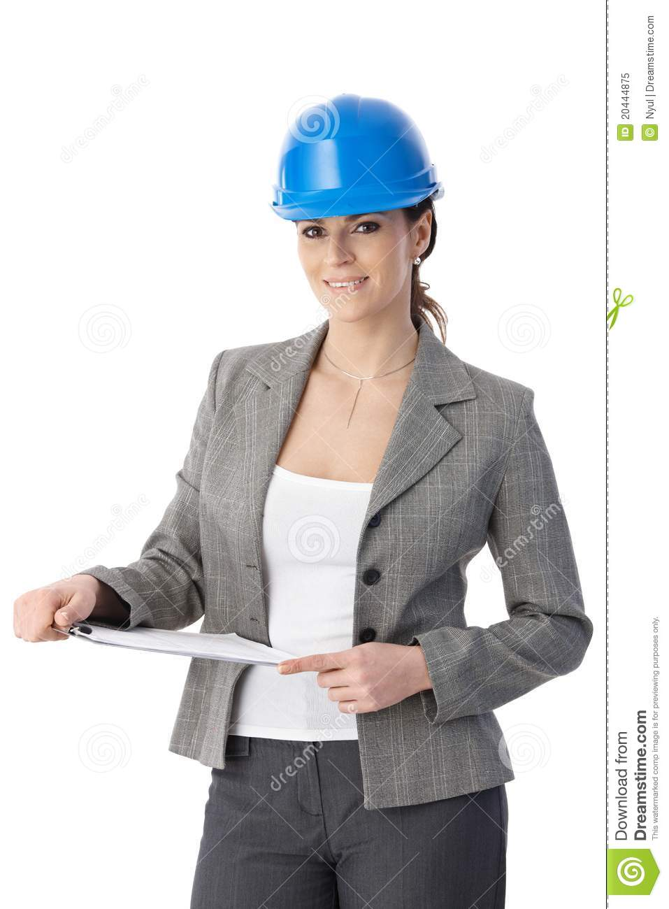 engineer woman in hardhat stock image image of color 20444875
