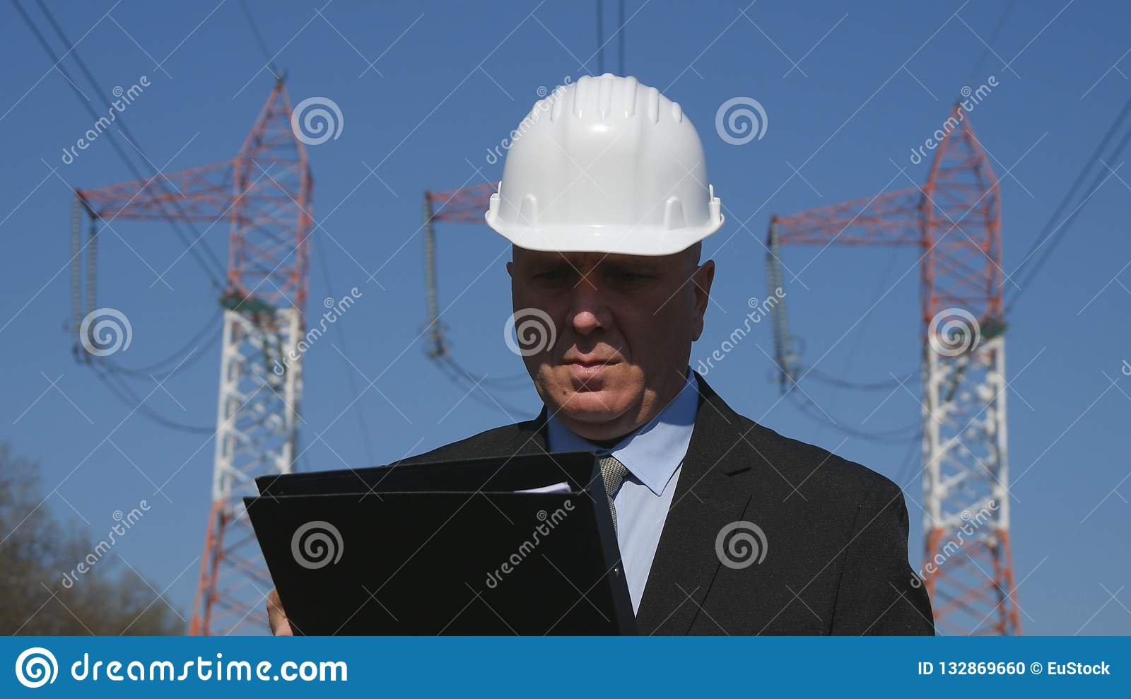 Engineer Working in Energy Industry Check Maintenance File